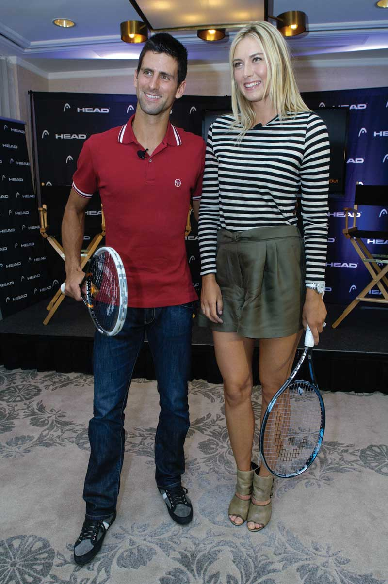 New Ad Features Djokovic And Sharapova Tennis Industry News