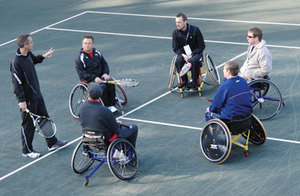 PTR Instructing Wheelchair Tennis Workshop