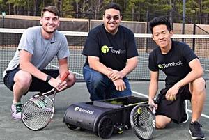 Tennis ball robot eliminates hassle