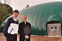 Bob Fossler, Amy Frazier at Cheltenham Tennis Center, PA