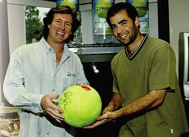 Steve Bellamy and Pete Sampras