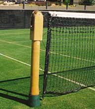 Net posts on grass