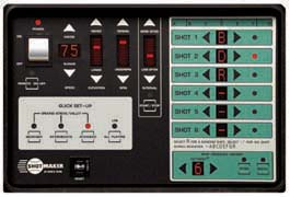 Sports Tutor Shotmaker Super Deluxe control panel
