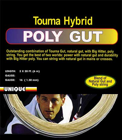 Unique Tourna Hybrid Poly Gut