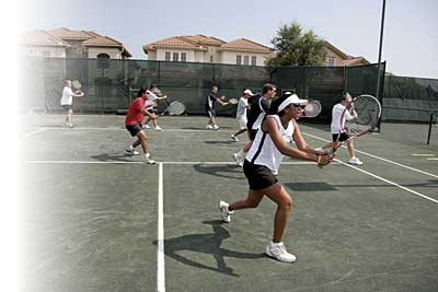 Cardio Tennis group volley