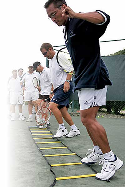 Cardio Tennis ladder drill