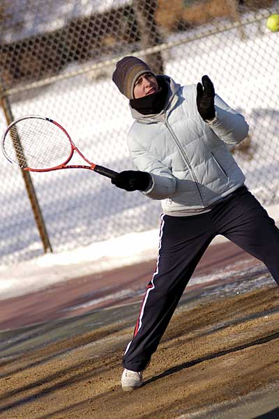 Coldest tennis match
