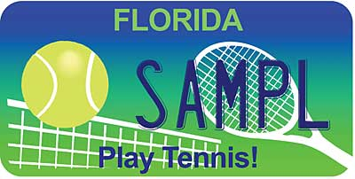 Florida tennis license plate