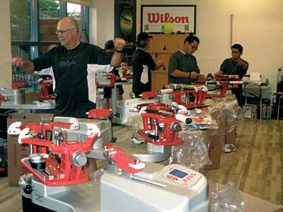 Wilson/Luxilon Stringing Team