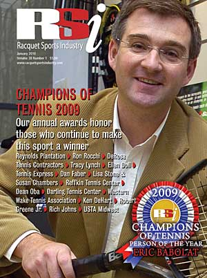 Racquet Sports Industry magazine, January 2010
